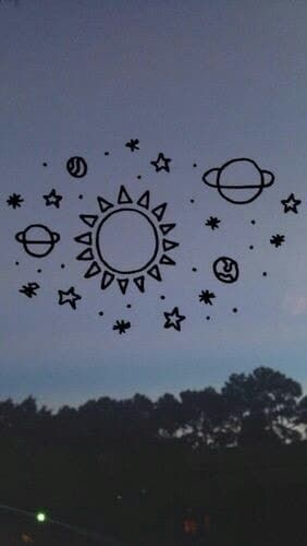 Looking at the sky  on We Heart It