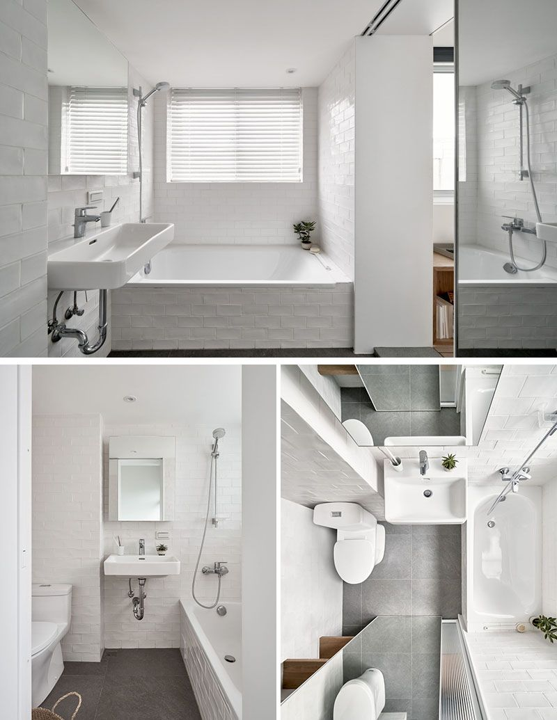 This Small Apartment Was Redesigned For Efficient Use Of Space Bathroom Ideas White Walls Small Space Bathroom Trendy Bathroom Designs