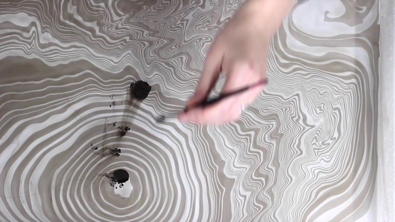 Suminagashi Paper Marbling Diy Japanese Water Marbling How To Marble Pa Papel Marmoleado Sobres De Papel Como Hacer Como Hacer Canvas