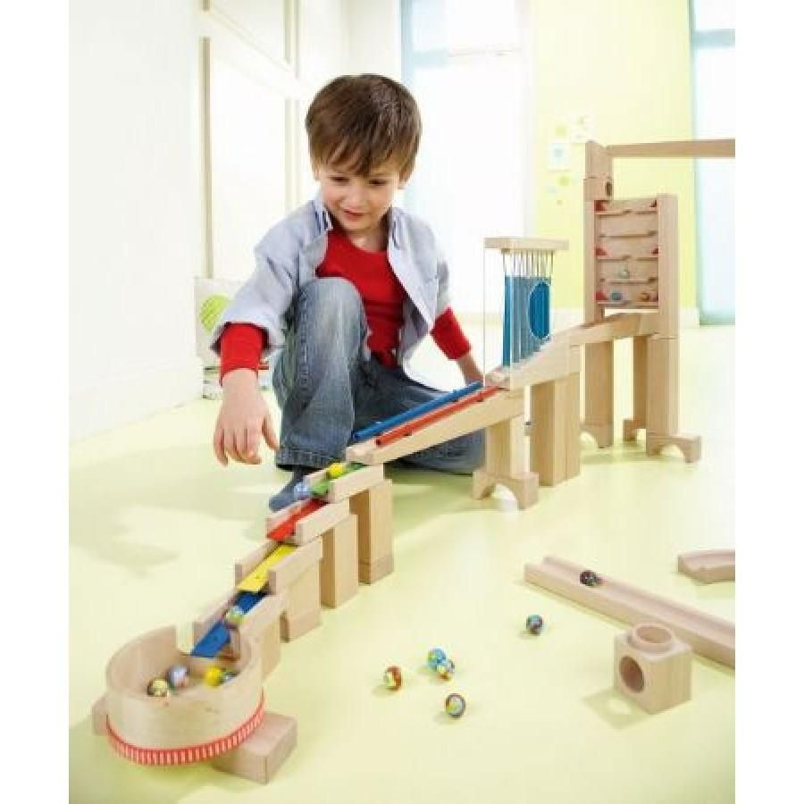 Haba Ball Track Sounds Starter Set Marble Run Sound In 2020 Best Kids Toys Presents For Girls Toys For Boys