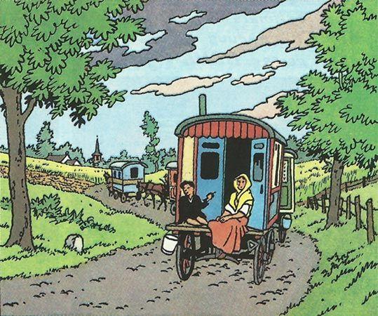 Caravana De Gitanos De Las Joyas De La Castafiore Tintin Las Aventuras De Tintin Tintin Y Milu