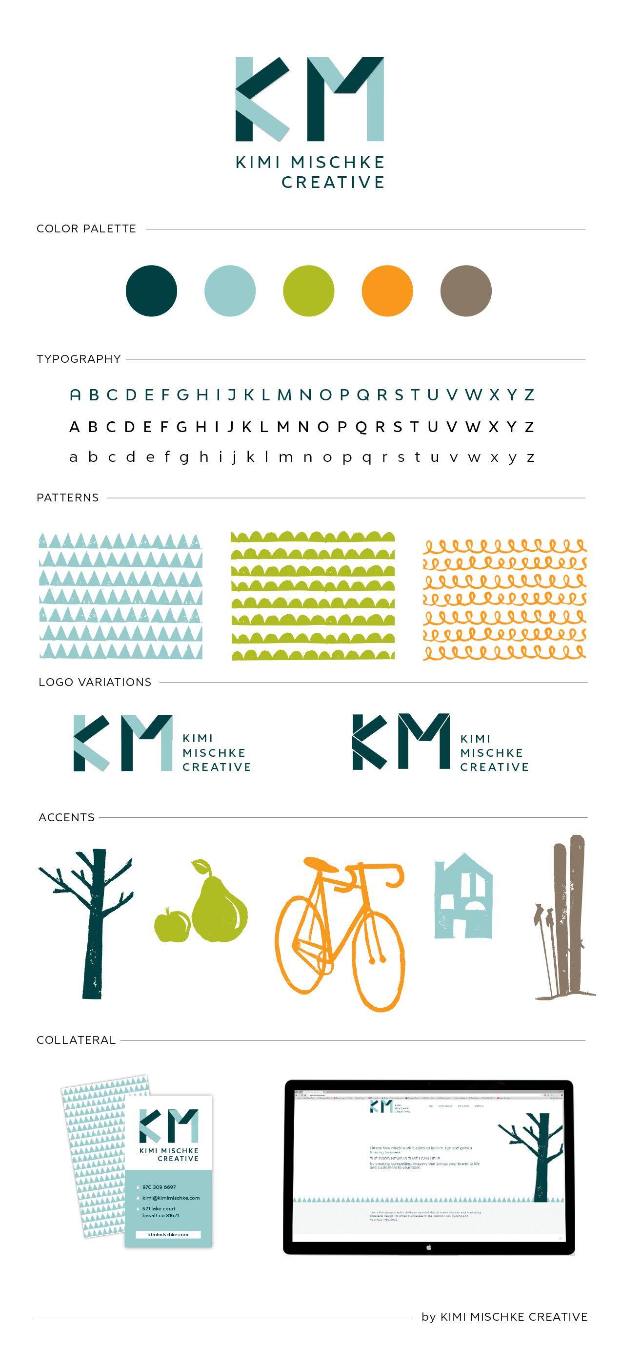 Brand Board For Kimi Mischke Creative A Graphic Design Firm