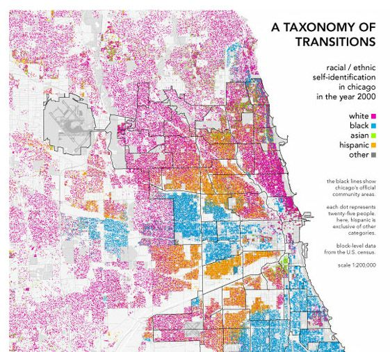 Bill Rankins map of Chicagos racial and ethnic divides Radical