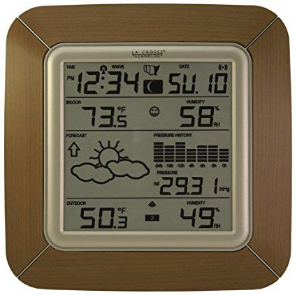 La Crosse Technology WS-9057U-IT Forecast Station with Barometer, Temperature, Humidity and Moon Phase, Alarm 7.6 x 1.5 x 7.6 inches $48.99