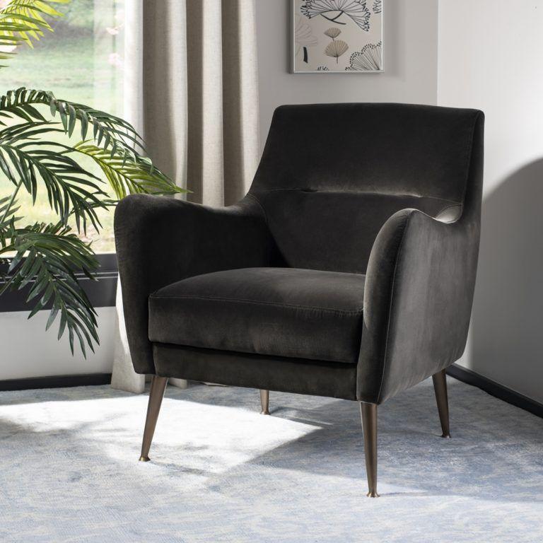 Sicily Velvet Arm Chair - Safavieh | Allison Master Bedroom ...