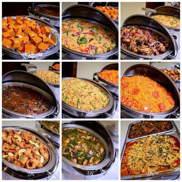 nigerian wedding catering, event food