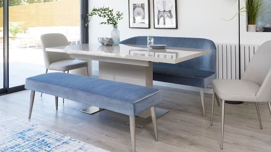 Awesome Best Dining Benches Go Upholstered For Extra Comfort And Unemploymentrelief Wooden Chair Designs For Living Room Unemploymentrelieforg