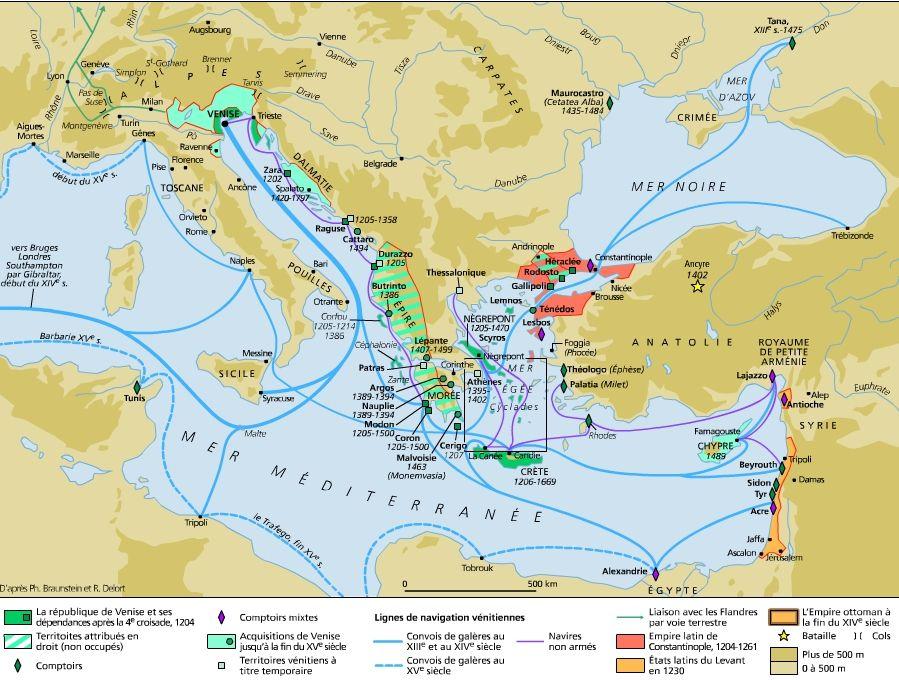 Venise Du Xiiieme Au Xveme Siecle Italie Histoire Carte Italie
