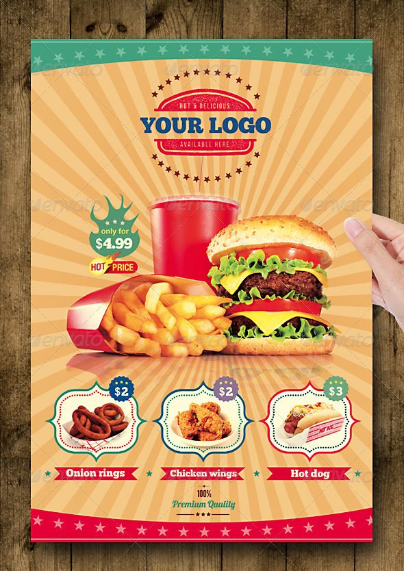Fast Food Flyer Menu Restaurant A4 | FLYER | Pinterest | Best Menu ...