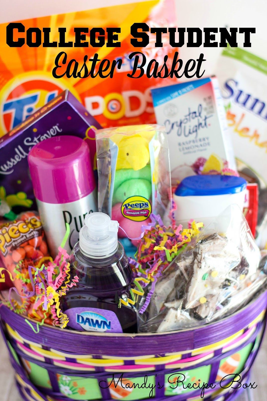 College Student Easter Basket Mandy S Recipe Box Kids Easter Basket Easter Baskets Easter Gift Baskets