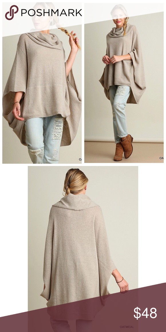 Poncho Style Cowl Neck Sweater Boutique | To be, Oatmeal and Models