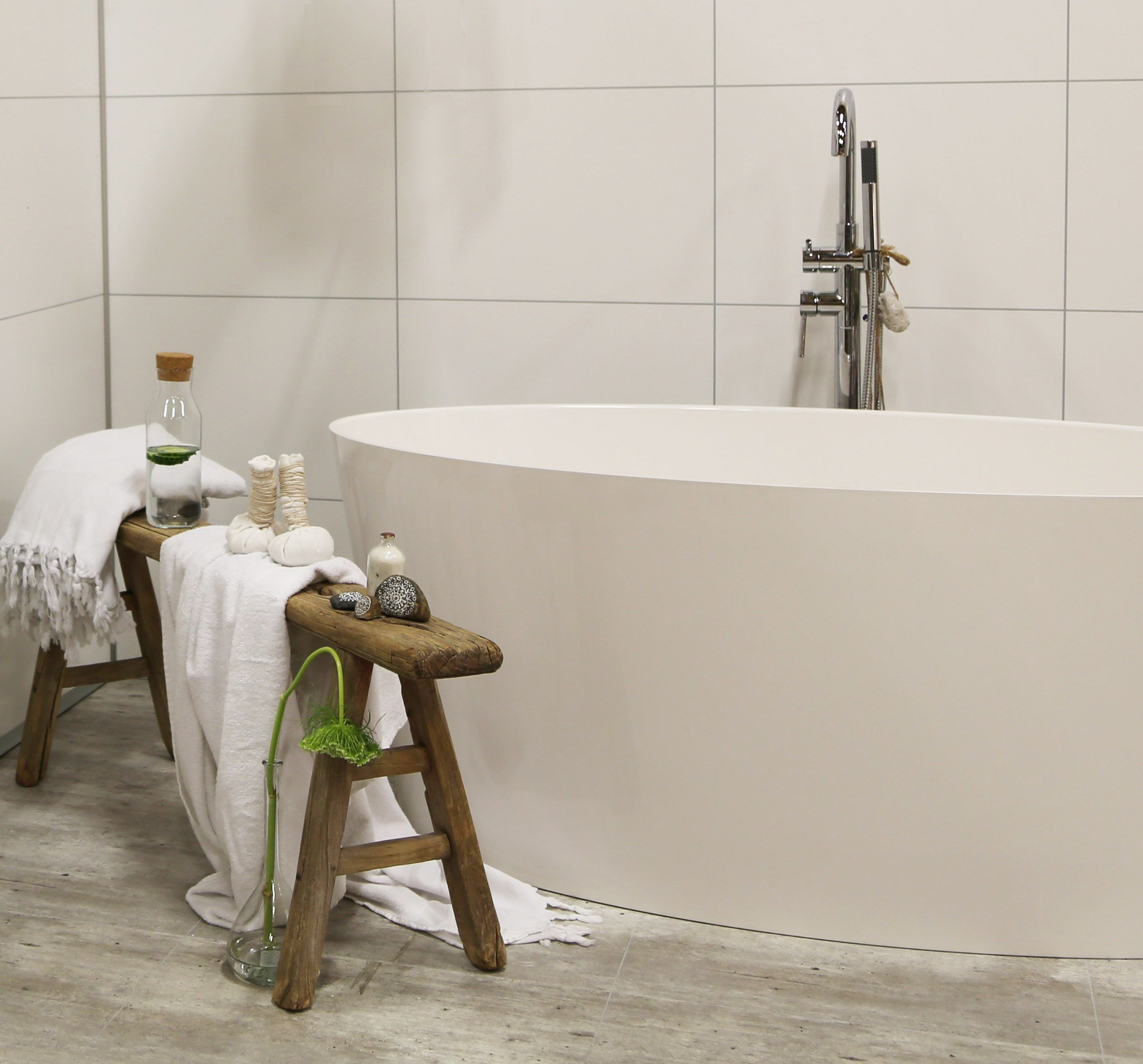 Noro Sand White Badkar Bathroom Bathtub White