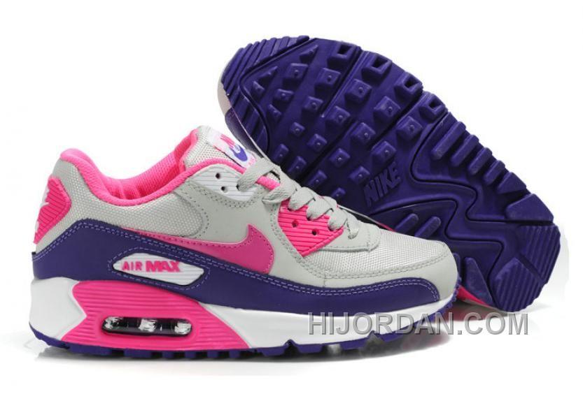 Nike Schuhe Air Max 90 Purpurn Weiß Rosa Damen Kaufen