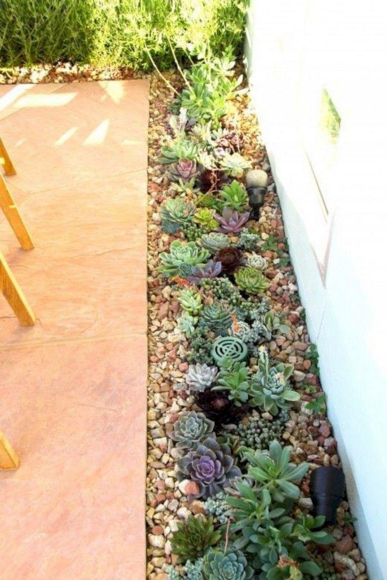 40 Beautiful Inspiring Desert Garden Design Ideas For Your Backyard Succulent Garden Landscape Backyard Garden Design Garden Layout