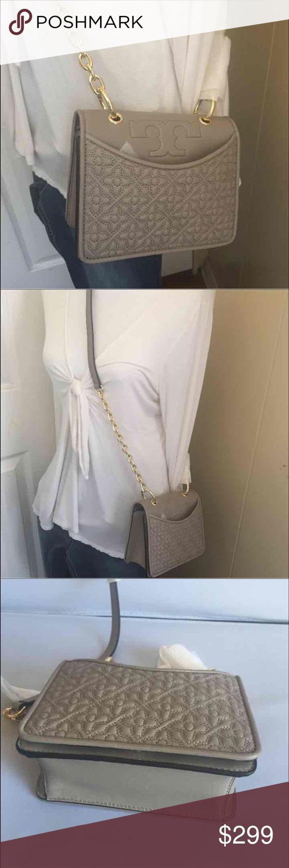 74d67223c4 Tory Burch Bryant mini shoulder bag Brand new shoulder bag soft leather  gold hardware inside zip pocket Color: French gray Measurements: 6.5