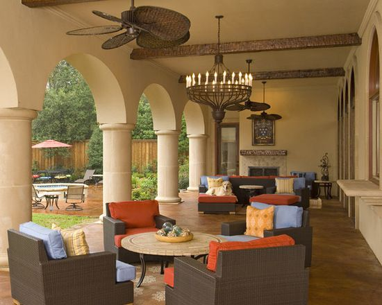 Spanish Mediterranean Style Residence Hacienda Chic Interior Design California Designer Dallas