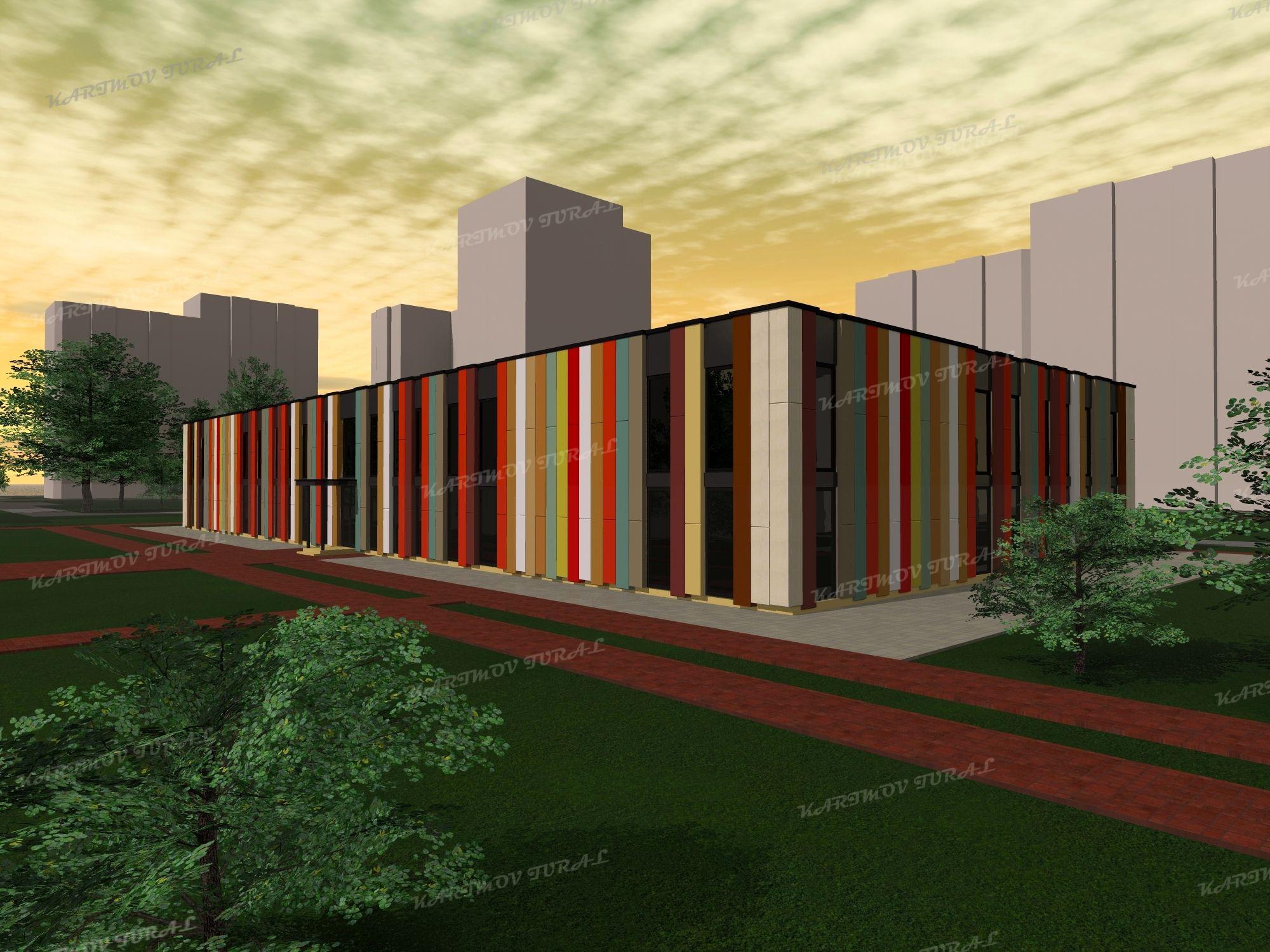 Проект детского сада в составе жилого комплекса на жителей  Проект детского сада в составе жилого комплекса на 8000 жителей собранный мною по референсу