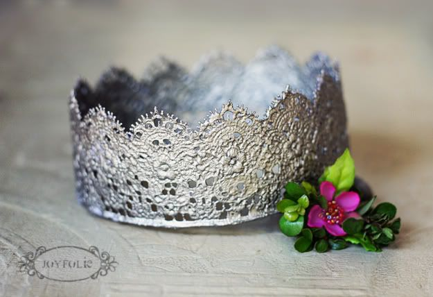 vintage crown made from lace-would have to secure with bobby pins