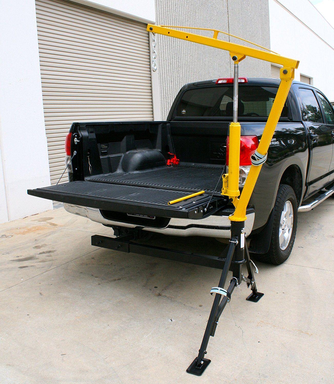 MaxxHaul Receiver Hitch Mounted Crane 1000 lbs. Capacity