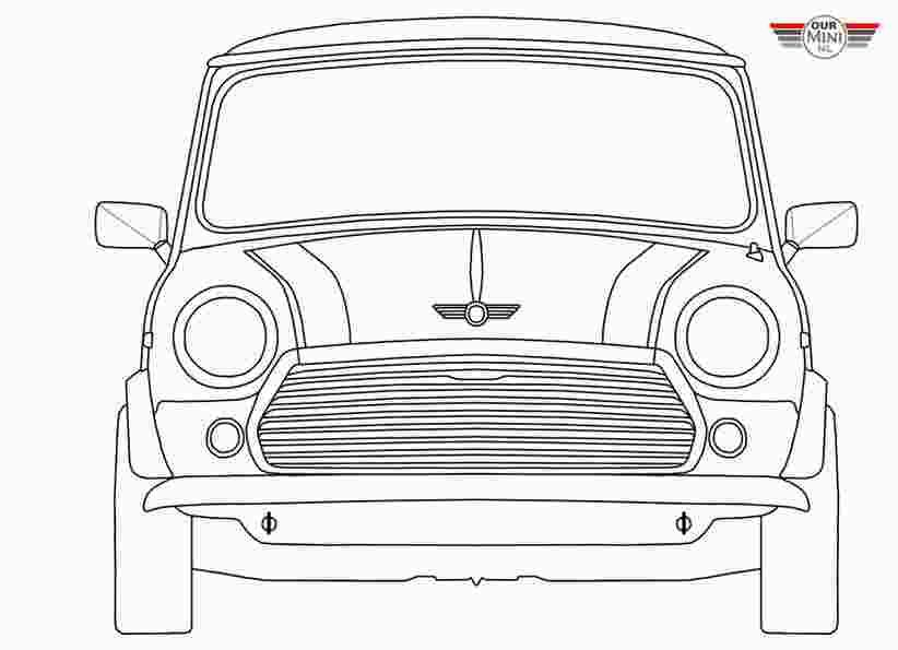 Colouring Pages Mini Car Mini Cooper Mini Cooper Custom Mini Cars