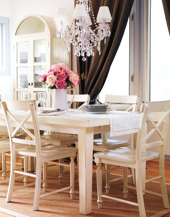 Parisian Dining Room Tabletop Ideas  White Furniture Parisians And French Country Style