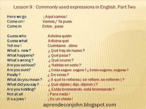 Frases Cotidianas En Inglés Parte 1 Youtube Curso De
