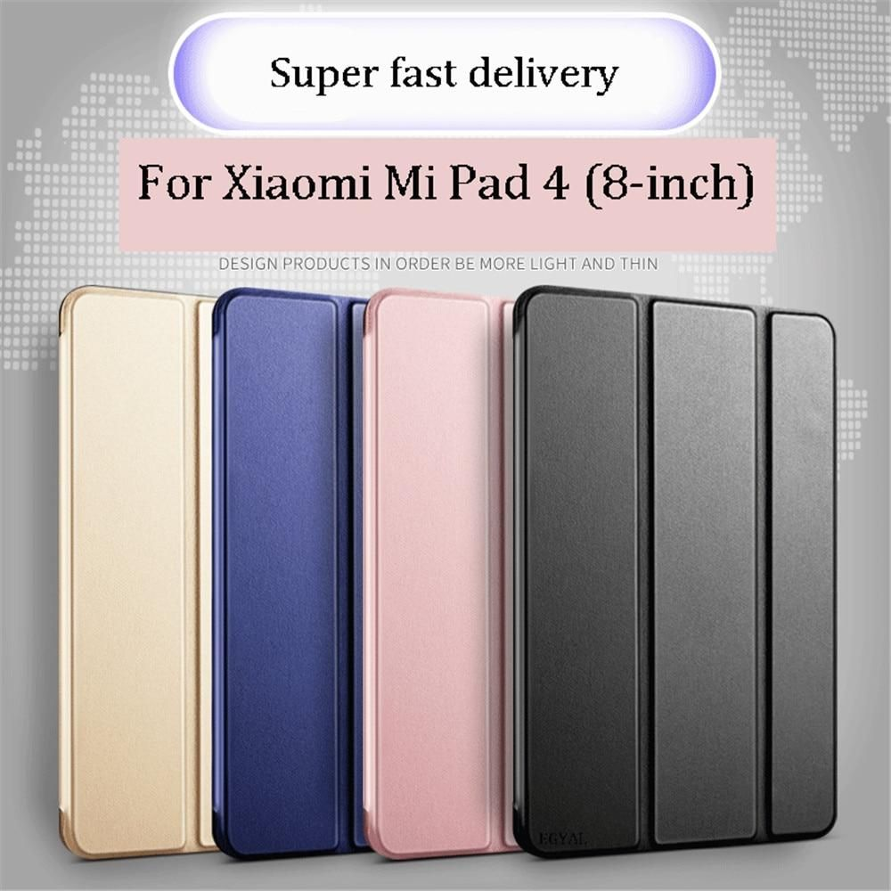 High Quality Case For Xiaomi Mi Pad 4 8 Inch Magnetic Silica Gel Smart Leather For Xiaomi Mi Pad 4 Tablet Cover Free Film With Images Tablet Cover Silica Gel Pad