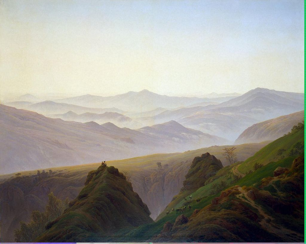 Morning in the Mountains (1822-23) The Hermitage, St. Petersburg.  Caspar David Friedrich
