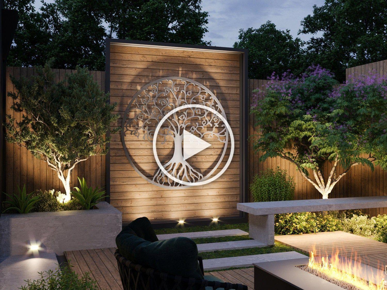 Tree Of Life Outdoor Metal Wall Art Large Metal Tree Wall Art Modern Outdoor Decor By Arteandmetal On Etsy In 2020