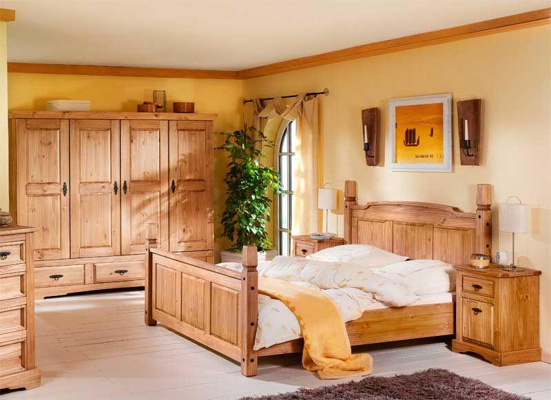 Schlafzimmer Set aus Kiefer Massivholz (4-teilig) Jetzt bestellen - schlafzimmer komplett