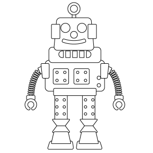 Robot Coloring Page Coloring Pages Robot Images Robot