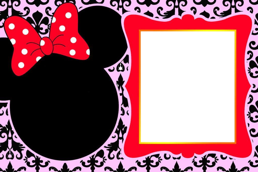 custom minnie mouse birthday invitation