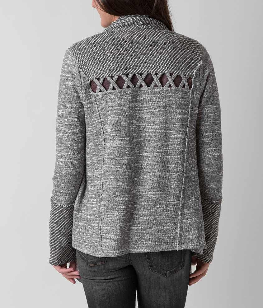 Miss Me Open Weave Cardigan Sweatshirt - Women's Cardigans in ...