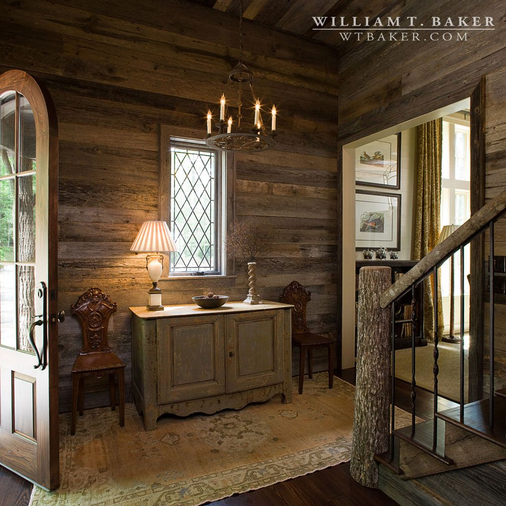 Mountain House William T Baker Barn Wood Entry Hall