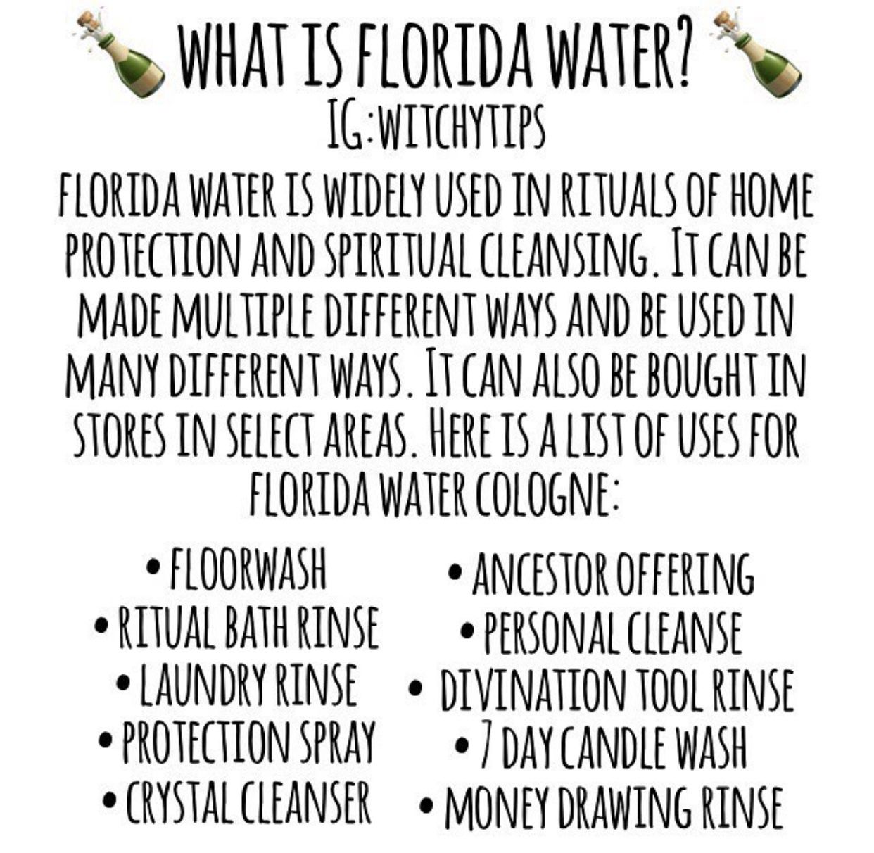 Florida water   altar   Spiritual cleansing, Eclectic witch