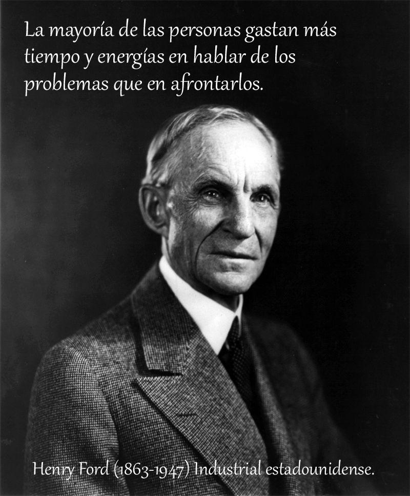 e88ee6cc91 Henry Ford (1863-1947) Industrial estadounidense.  citas  frases ...