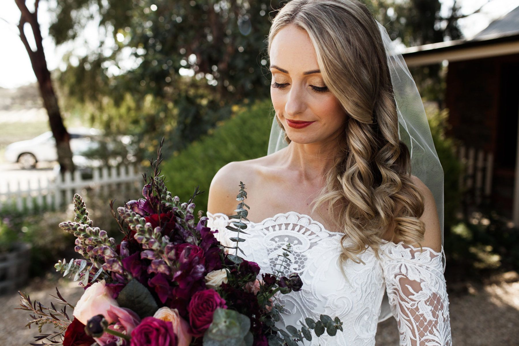 Thurley wedding dress  Leah u Henryus Barossa Valley Wedding  Recovery Brunch  Flowers