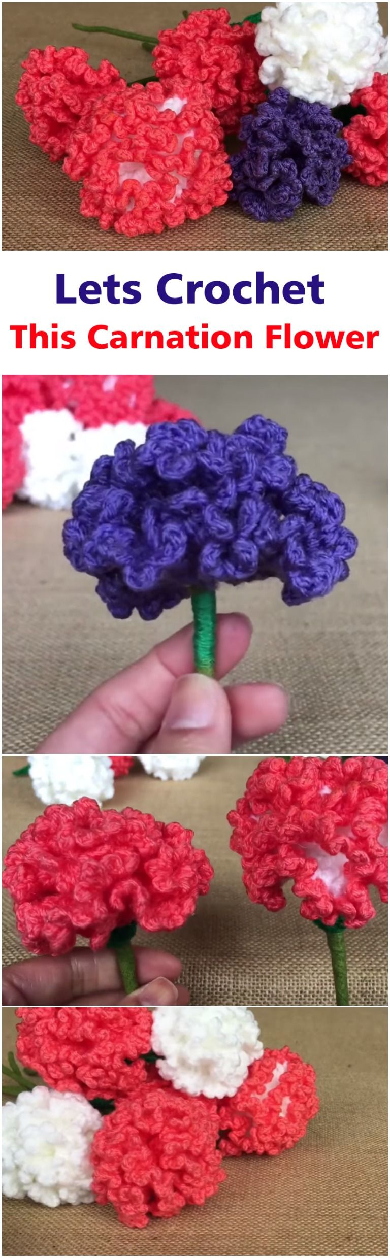 Crochet Carnation Flowers | Blogger Crochet Afghan Patterns We Love ...