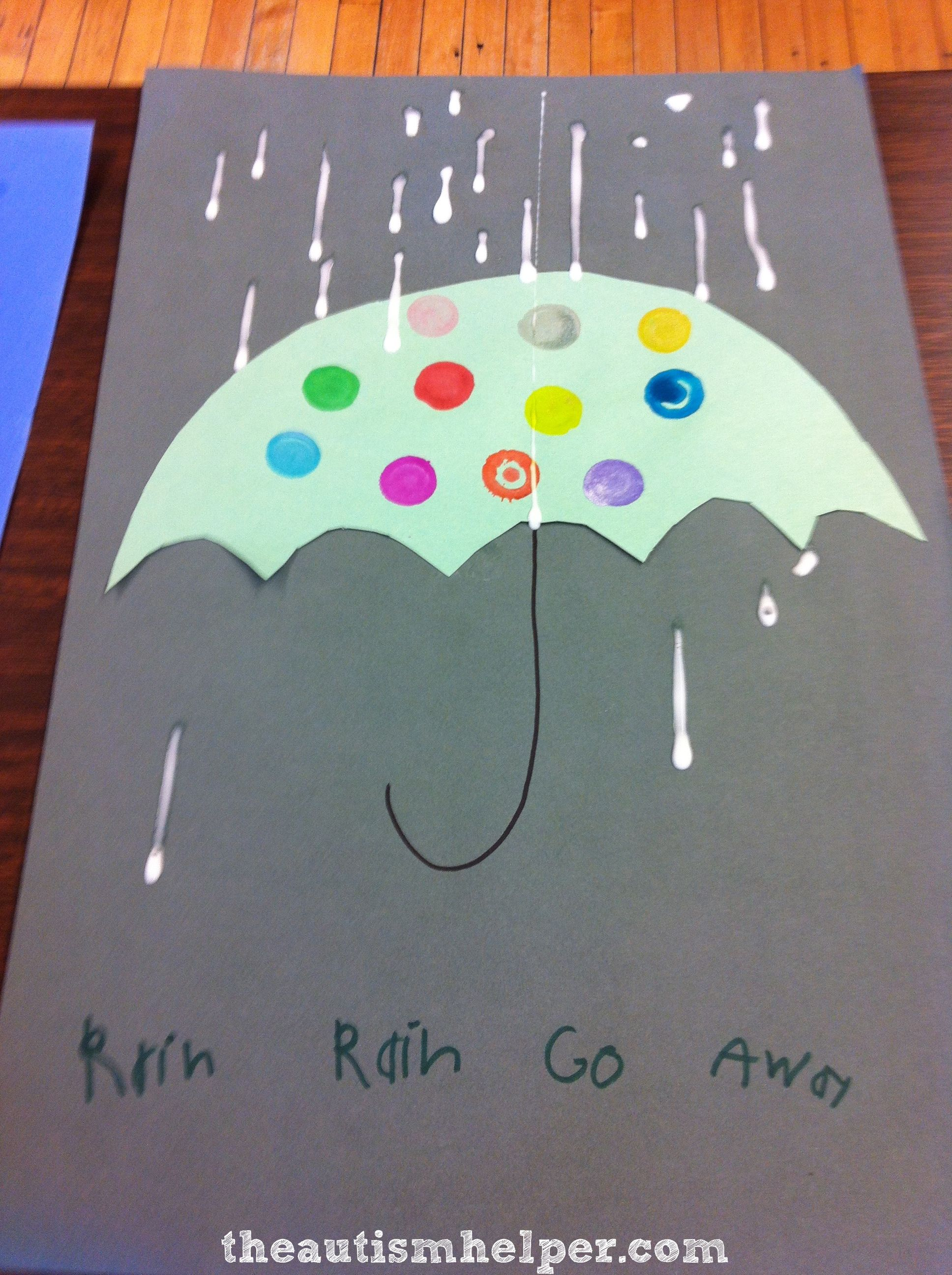 Rainy Day Craft With A Fine Motor Twist