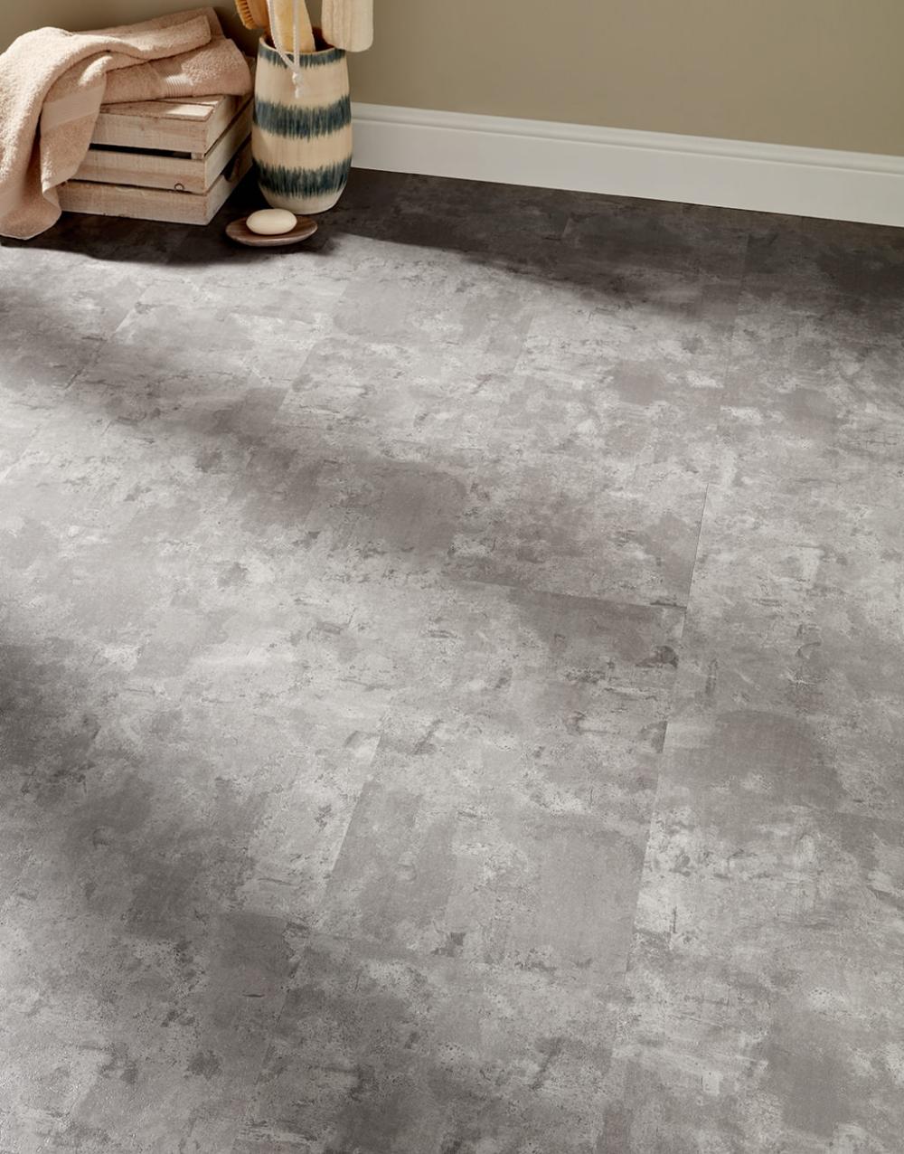 Venice Tile Click Murano Concrete LVT Flooring in 2020