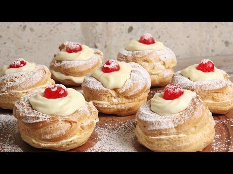 Zeppole San Giuseppe Recipe - Laura in the Kitchen - Internet Cooking Show Starring Laura Vitale