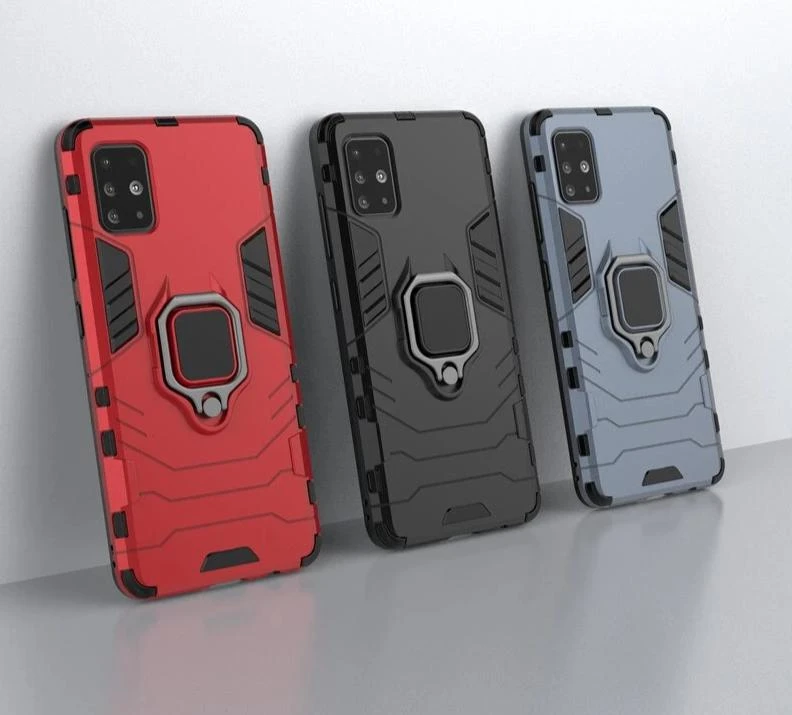 Case For Samsung A51 Bumper Ring Holder Armor Back Cover Case Samsung Phone Case Cover