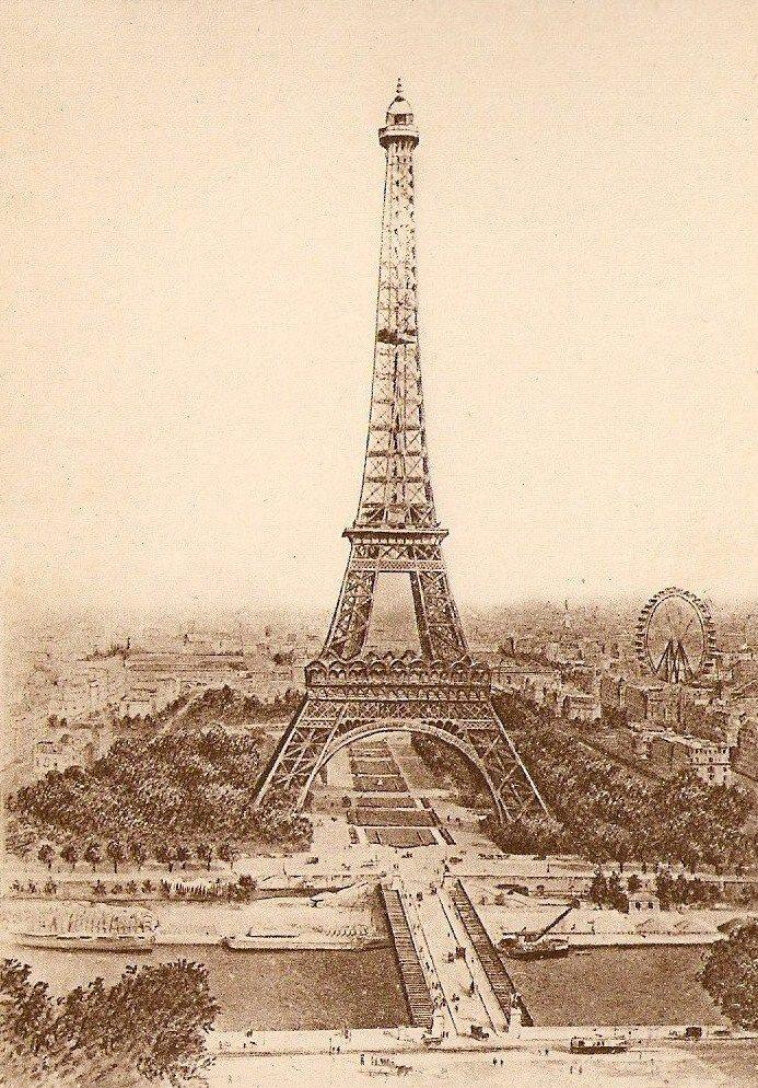 винтажная эйфелева башня картинки большой
