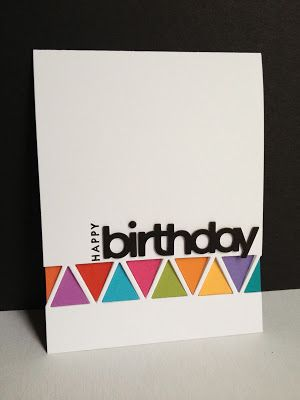 Leftover Triangles Birthday Card Crafty Ideas Pinterest Cards