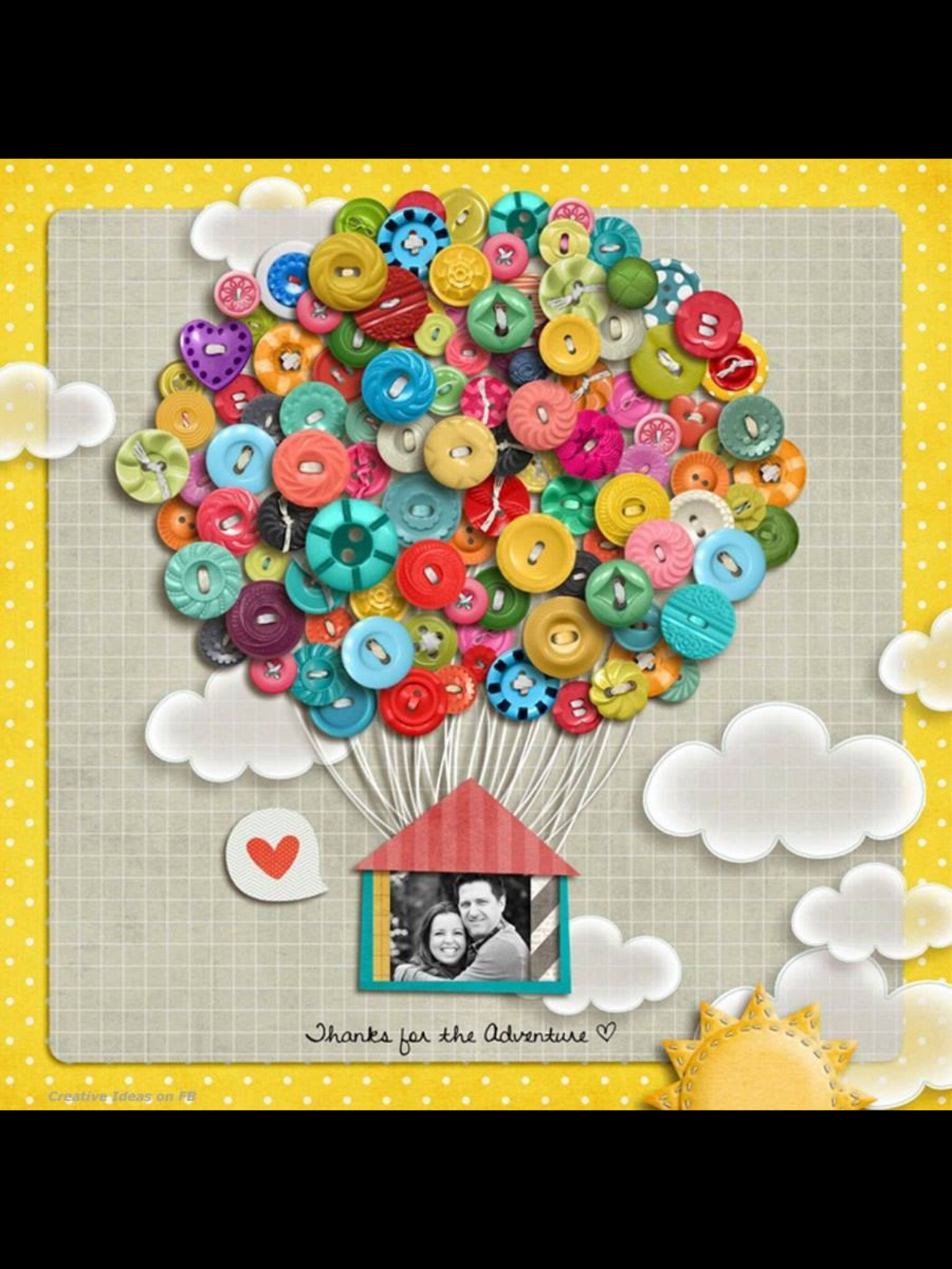 Button hot air balloon