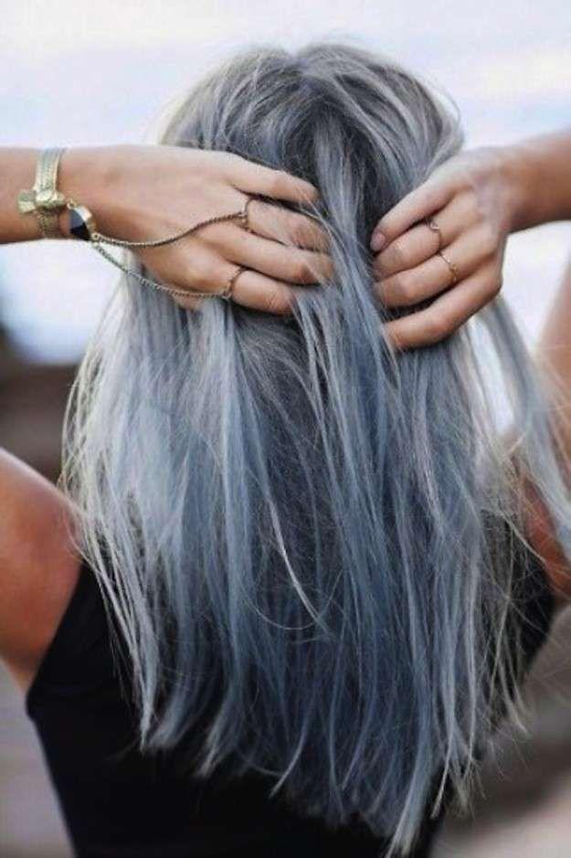 Cortes de pelo cabello gris