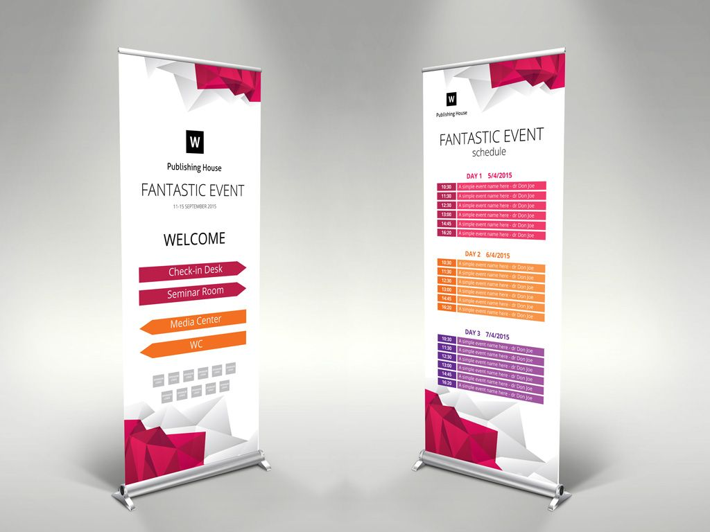 Professional roll up template for illustrator. www.themzy.com ...