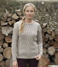 ae9cd1a4c3bae0 Aran Sweater in British Wool for Men and Women