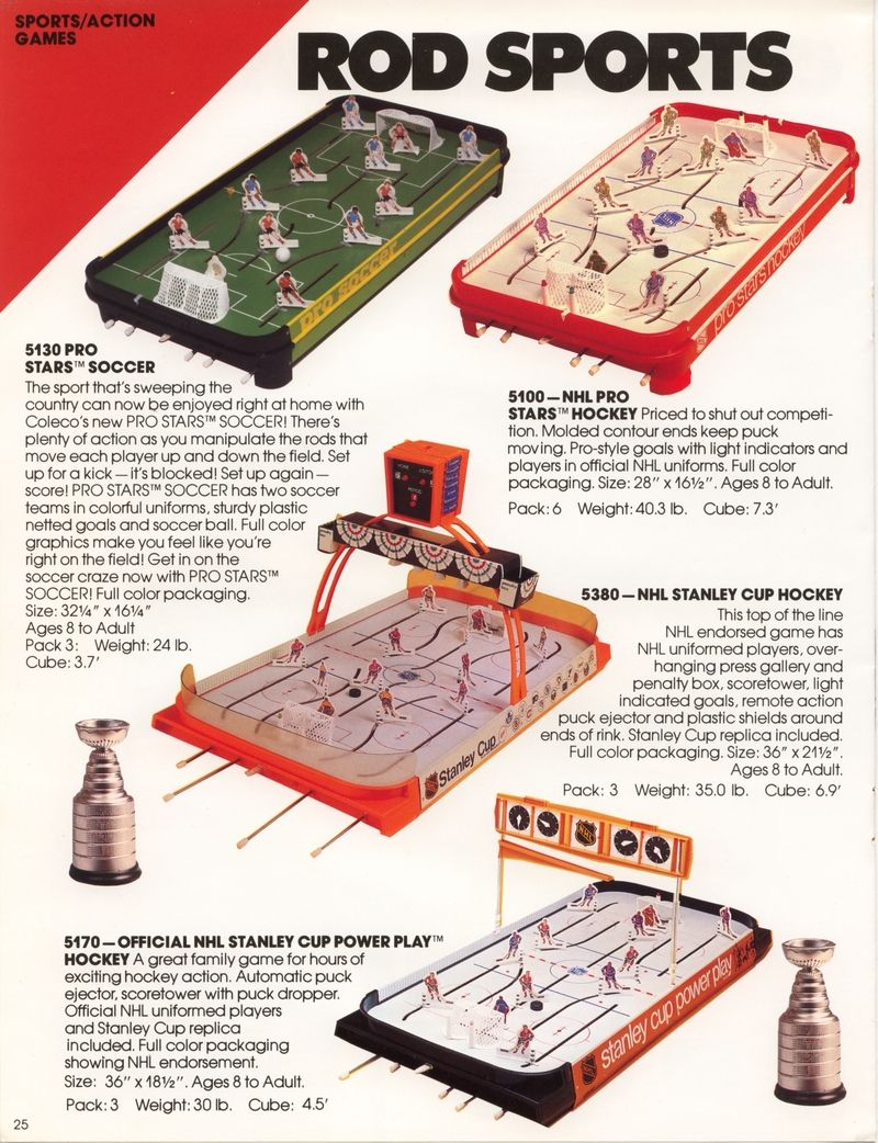 Vintage table hockey - Coleco Stanley Cup Table Hockey Game We Had The Bottom One And It Came With A