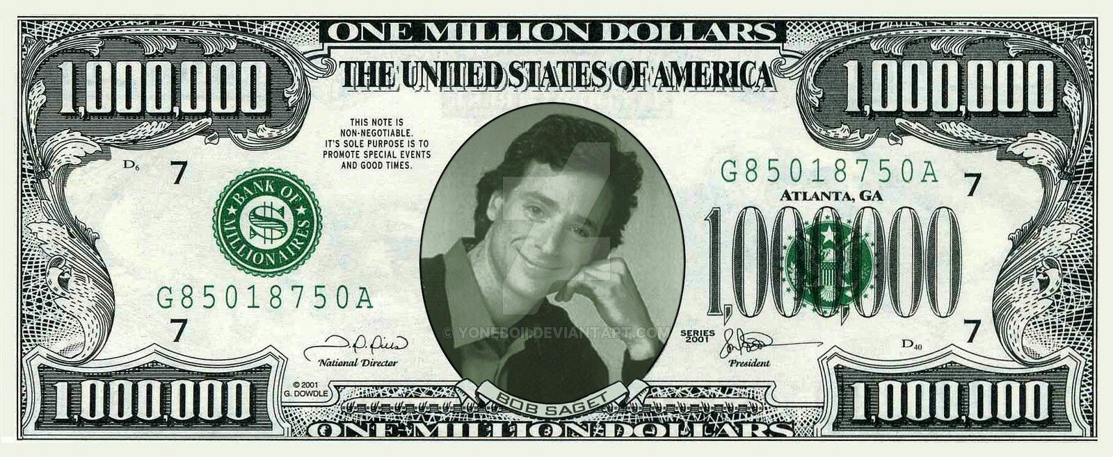 Pin By Mitchell Courtney On Full House One Million Dollar Bill